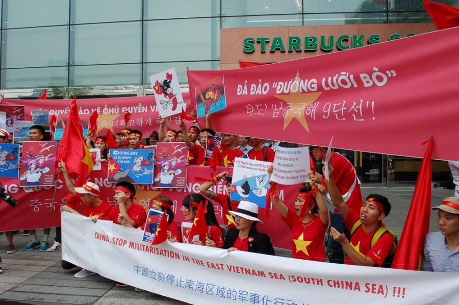 biểu tình phản đối TQ, biển Đông, biểu tình, người Việt ở Hàn Quốc