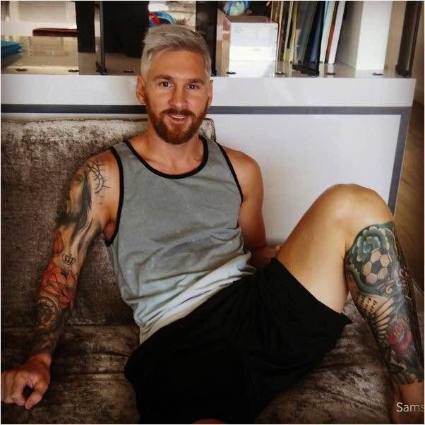 Lionel Messi, Barcelona, bạn gái Messi, bồ Mesi, Messi khoe tóc mới