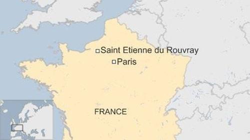 Vị trí vùng Saint-Etienne-du-Rouvray, Pháp. Đồ họa: BBC.