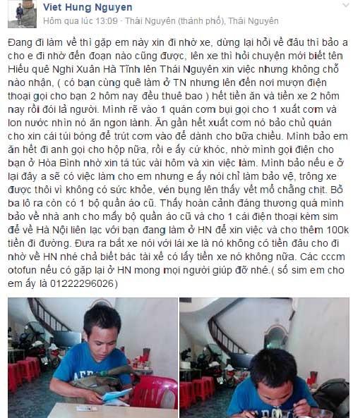 Hà Nội, chuyện tốt, người tốt, cộng đồng mạng, xin việc, bệnh viện, diễn đàn