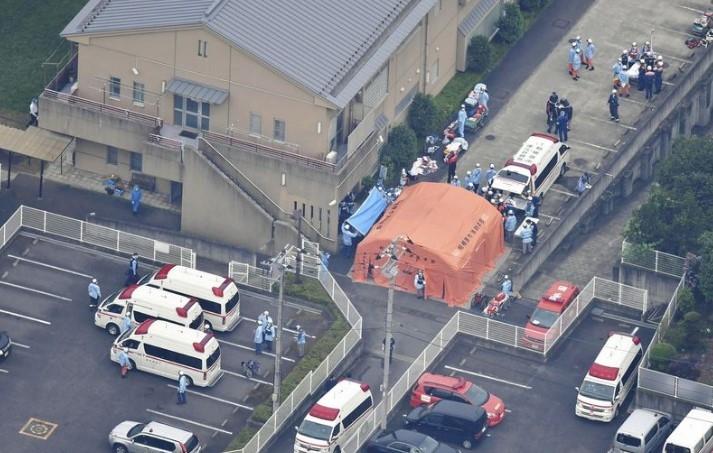Hiện trường vụ đâm dao tại Tokyo, Nhật Bản. Ảnh: Yomiuri Shimbun