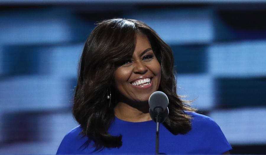 Bài phát biểu của bà Michelle Obama đã gây được tiếng vang lớn trong đêm khai mạc đại hội toàn quốc đảng Dân chủ (Ảnh: Reuters)