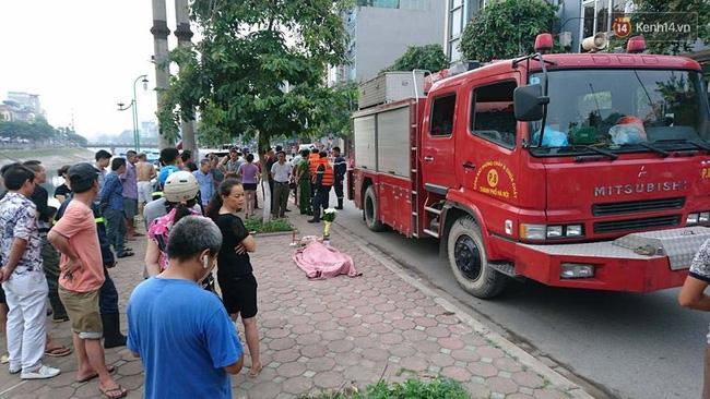 Hà Nội: Phát hiện thi thể người phụ nữ chết dưới sông Tô Lịch - Ảnh 1.