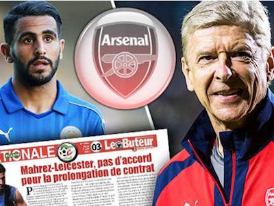 NÓNG: Riyad Mahrez đồng ý tới Arsenal sau cuộc nói chuyện với HLV Wenger