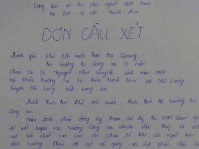 Hai nữ sinh Lạng Sơn gửi tâm thư đến Chủ tịch nước và Bộ trưởng Công an