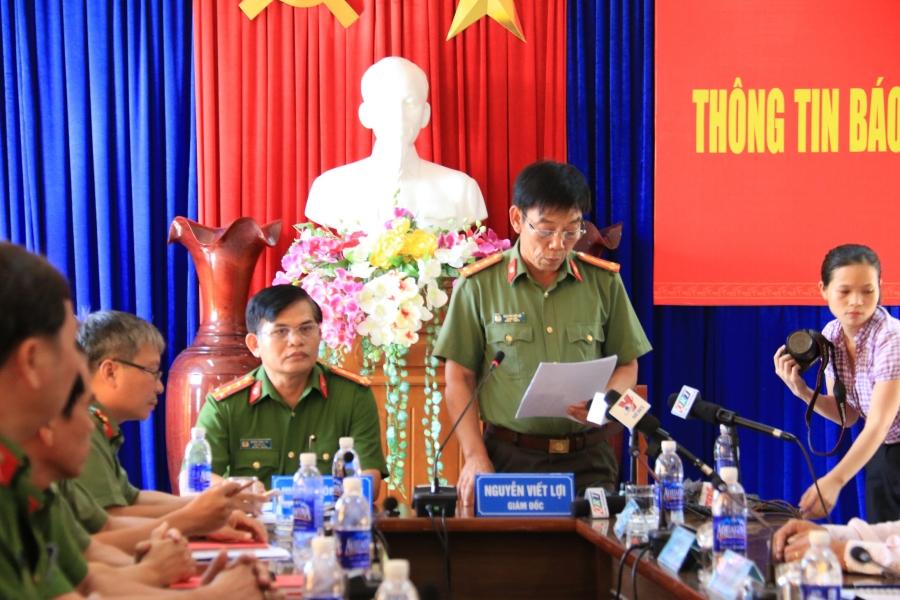 Công an tỉnh Quảng Nam họp báo công bố thông tin trước đó