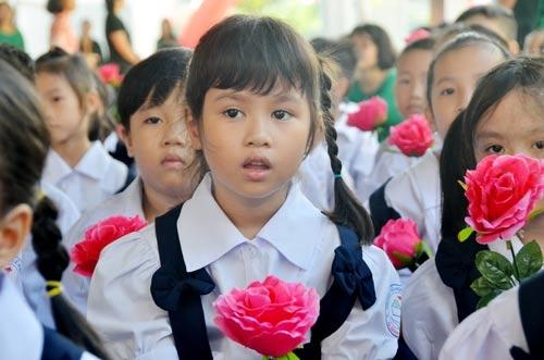 Trường Tiểu học Lê Đình Chinh (quận Bình Thạnh, TP HCM) đã tổ chức khánh thành và khai giảng năm học mới sáng 1-9 Ảnh: Tấn Thạnh
