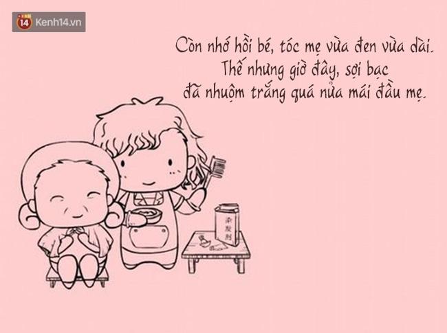 Bộ tranh: Có một ngày, mẹ của chúng ta sẽ chậm rãi già đi - Ảnh 6.