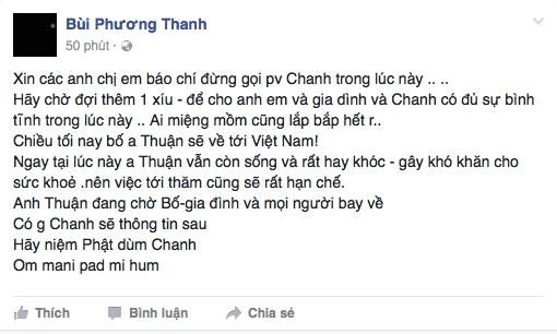 Phương Thanh: Ngay tại lúc này, anh Thuận còn sống và rất hay khóc - Ảnh 1.