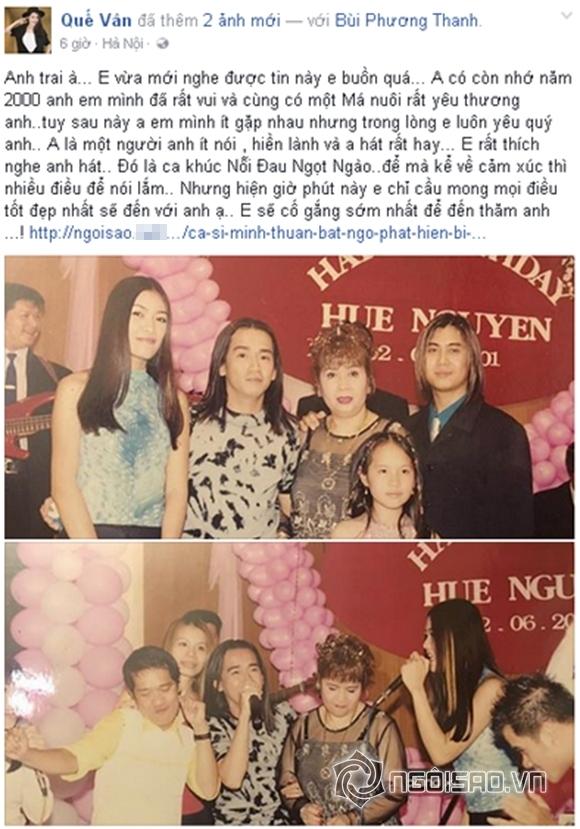 Sao Việt sốc trước tin Minh Thuận ung thư 7
