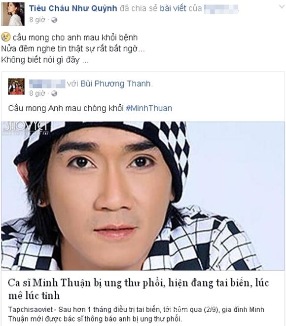 Sao Việt sốc trước tin Minh Thuận ung thư 0