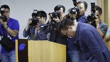 Samsung xin lỗi người tiêu dùng toàn cầu. Ảnh: Xinhua