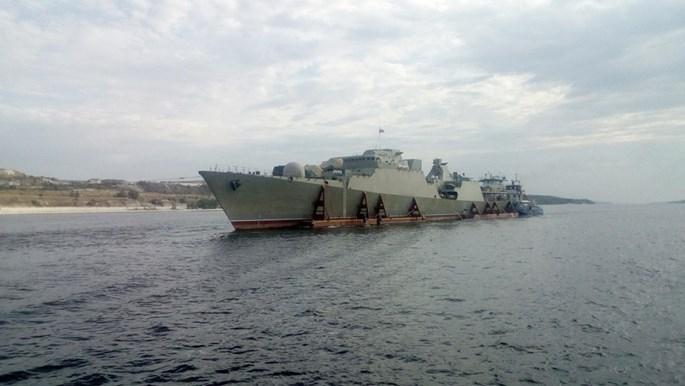 Chùm ảnh tàu chiến Gepard 3 9 thứ ba của Việt Nam ra cửa biển Azov - ảnh 3