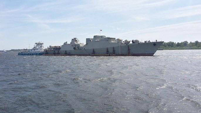 Chùm ảnh tàu chiến Gepard 3 9 thứ ba của Việt Nam ra cửa biển Azov - ảnh 4