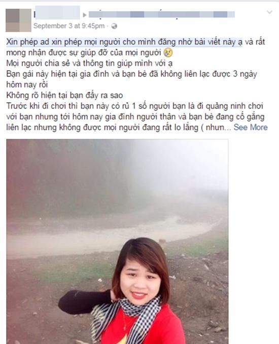 Cô gái trẻ mất tích bí ẩn khi đi phượt cùng người yêu mới quen - Ảnh 1.