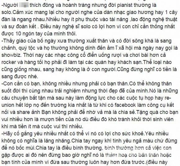 Quốc Trung gửi thư cho con trai  3
