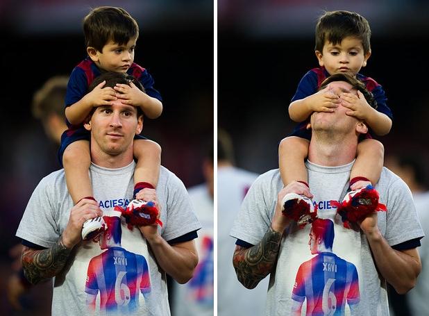 Con trai cua Messi khong muon noi nghiep cha hinh anh 1