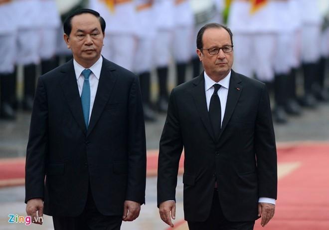 Le don Tong thong Phap Francois Hollande tai Ha Noi hinh anh 4