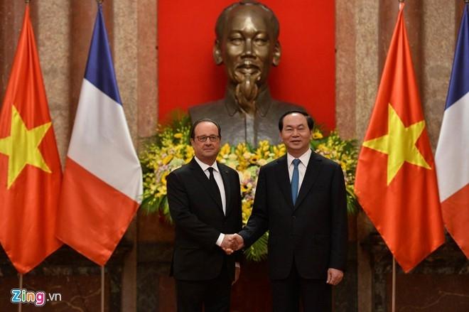 Le don Tong thong Phap Francois Hollande tai Ha Noi hinh anh 6