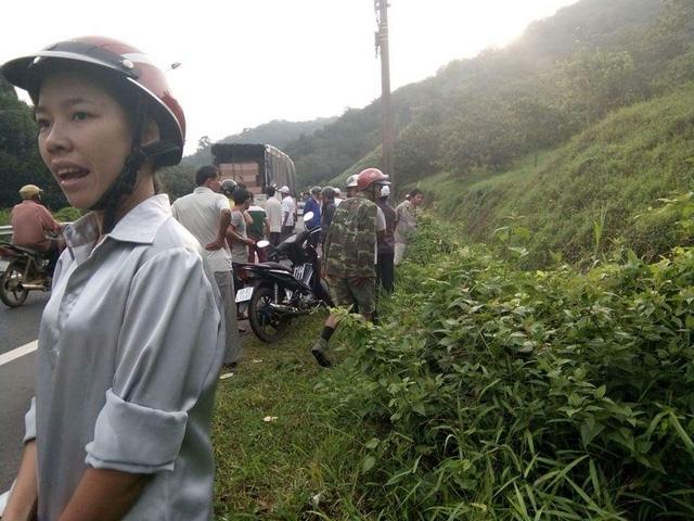 Hiện trường nơi xảy ra vụ tai nạn. Ảnh: Mã Lâm Nhật Vy