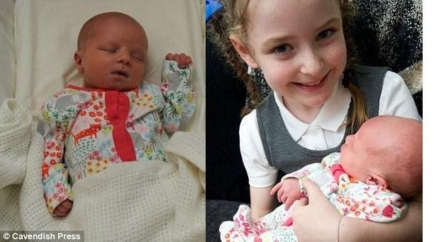 Bé Elsie, 5 ngày tuổi phải điều trị ở bệnh viện do cú đấm vô cớ của người đàn ông lạ  /// Ảnh: Cavendish Press/ Manchester Evening News