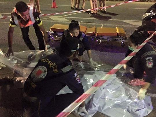Hiện trường vụ tai nạn khiến anh anh Lương Văn Hùng tử vong - Ảnh: Facebook Quang Cường