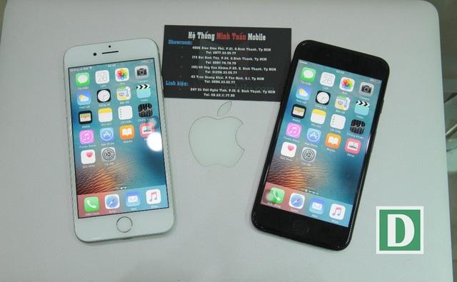 Bộ đôi iPhone 7 màu trắng bạc và đen bóng (đen piano) tại Việt Nam