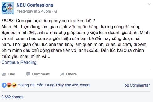 Câu chuyện về anh bạn trai đong lọ nước mắm, đếm củ dưa hành hút hơn 43.000 Like trên mạng xã hội.