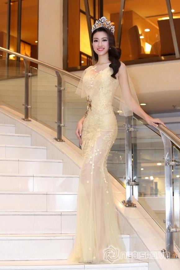 Hoa hậu Mỹ Linh rạng rỡ 6