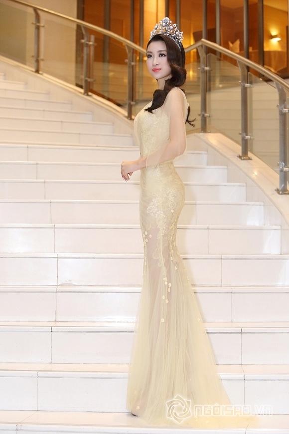 Hoa hậu Mỹ Linh rạng rỡ 9