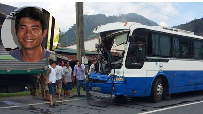 Tài xế Phan Văn Bắc người có hành động đặc biệt dũng cảm khi cứu thành công xe khách mất phanh khi đổ đèo /// Ảnh Minh Sơn