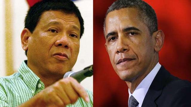 Tổng thống Philippines Rodrigo Duterte (trái) và Tổng thống Mỹ Barack Obama. (Ảnh: Getty)