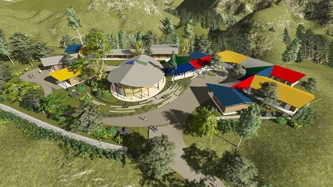 Cận cảnh ngôi trường độc đáo và đẹp như một đoá hoa dành cho trẻ em Lũng Luông - Ảnh 2.