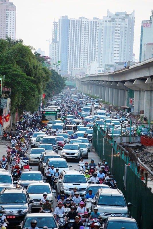 Giao thông hà nội, giao thông hỗn loạn, an toàn giao thông, tin giao thông, tắc đường