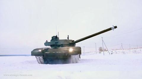 Tang Armata duoc trang bi dan phao no theo y muon