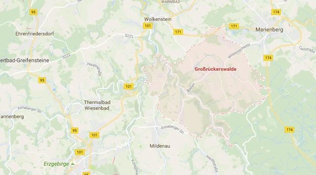 Tai nạn xảy ra ở bang miền Đông nước Đức. (Ảnh: RT)
