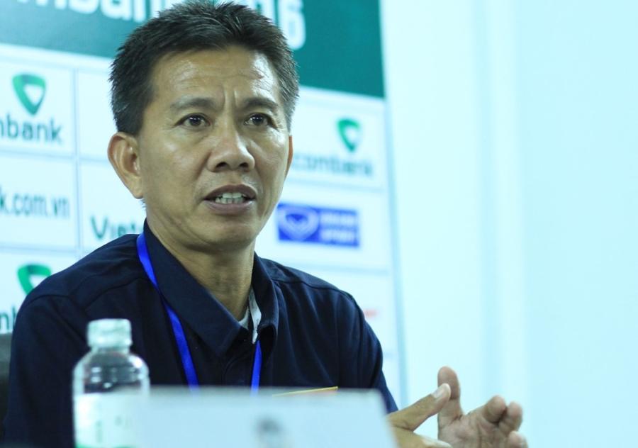 HLV Hoàng Anh Tuấn trả lời họp báo sau trận U19 Việt Nam 0-0 U19 Singapore.