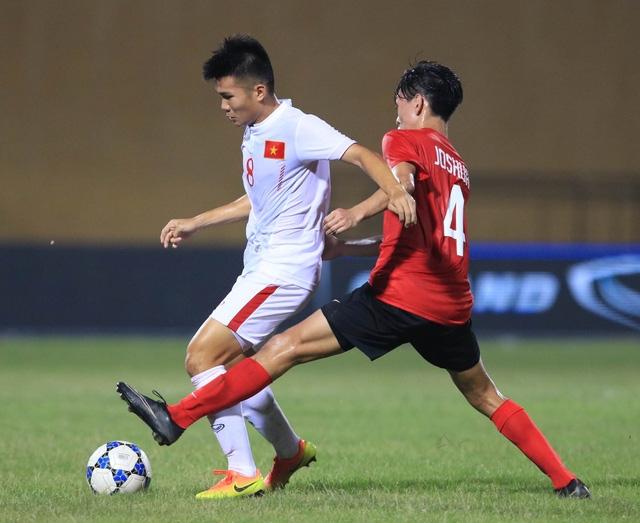 U19 Việt Nam ép sân hoàn toàn trước Singapore