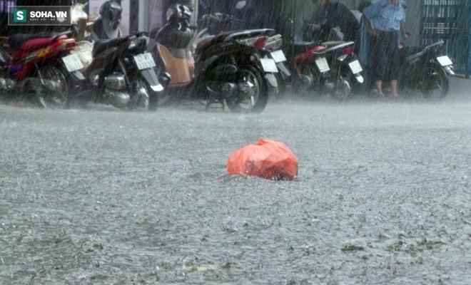 Sài Gòn mưa suốt 2 giờ, công nhân móc rác ở cống để thoát nước - Ảnh 4.