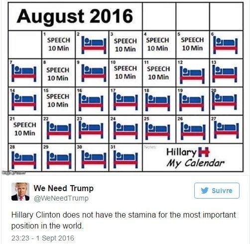 Những tin đồn quái ác về sức khỏe bà Hillary Clinton