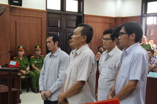 Các bị cáo tại phiên xử phúc thẩm