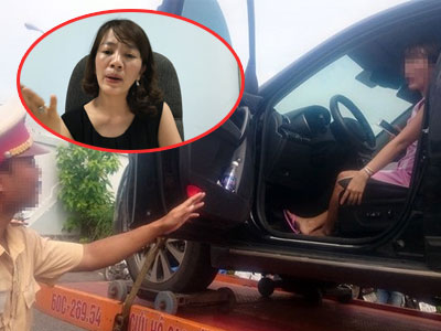 """Nữ tài xế bị cẩu cả xe và người: """"Tôi sẽ kiện CSGT"""""""