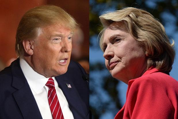 Ứng viên tổng thống Mỹ của đảng Cộng hòa Donald Trump (trái) và ứng viên đảng Dân chủ Hillary Clinton. (Ảnh: Getty)