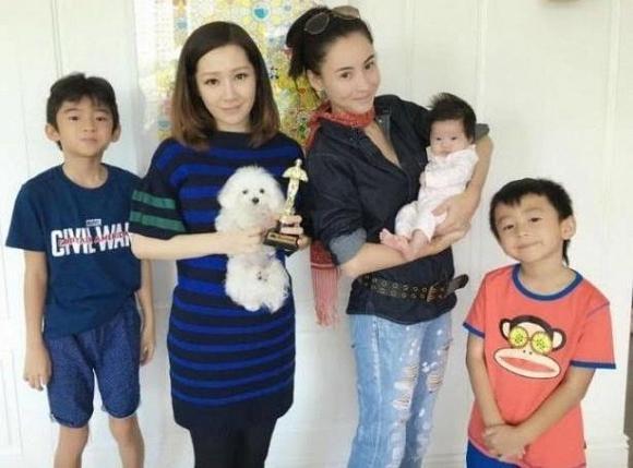 Tạ Đình Phong và hai con trai 6