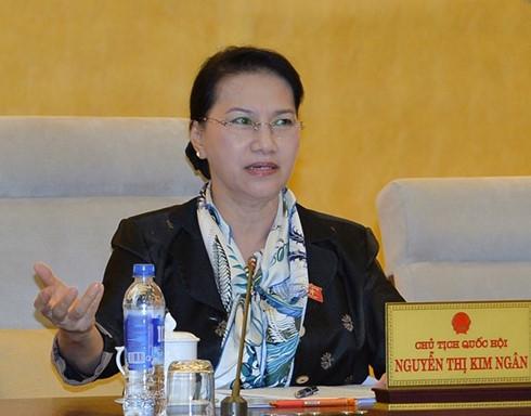 Chủ tịch QH Nguyễn Thị Kim Ngân đề nghị Chính phủ có báo cáo riêng về sự cố môi trường biển 4 tỉnh miền Trung do Formosa gây ra gửi đến kỳ họp thứ 2 QH khóa XIV - Ảnh: Nguyễn Nam