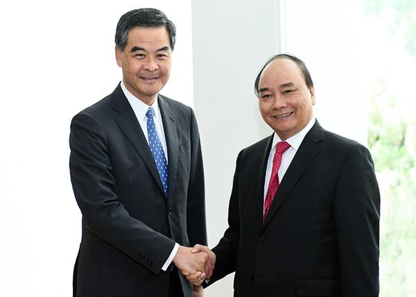 Thủ tướng nguyễn Xuân Phúc, Thủ tướng thăm Trung Quốc, Lương Chấn Anh