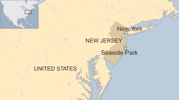 Cuộc thi chạy tại công viên Seaside đã bị hủy bỏ do vụ nổ bom (Đồ họa: BBC)