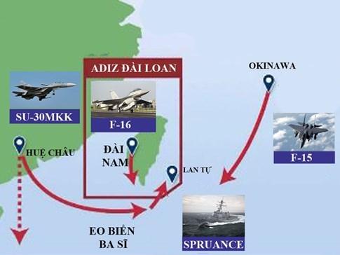 Chiến đấu cơ Mỹ - Trung - Đài đối đầu trên không