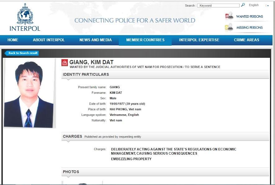 chua co ten trinh xuan thanh tren trang web truy na cua interpol hinh anh 2