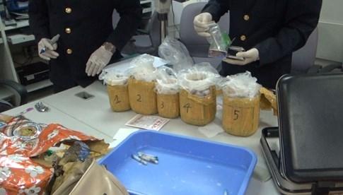Phá án 'hàng bay': Mắm cá rô, chim đại bàng và... ma túy - ảnh 1